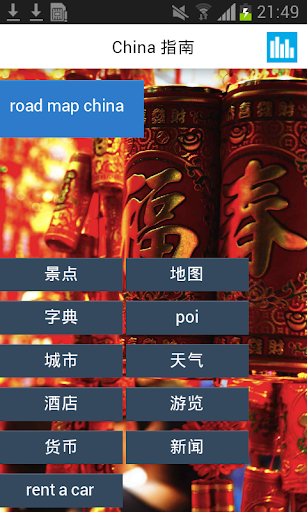 中國離線地圖和旅遊指南的提示和天氣