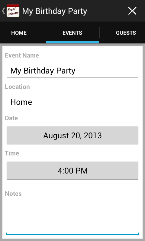 event planner party planning android apps on google play. Black Bedroom Furniture Sets. Home Design Ideas