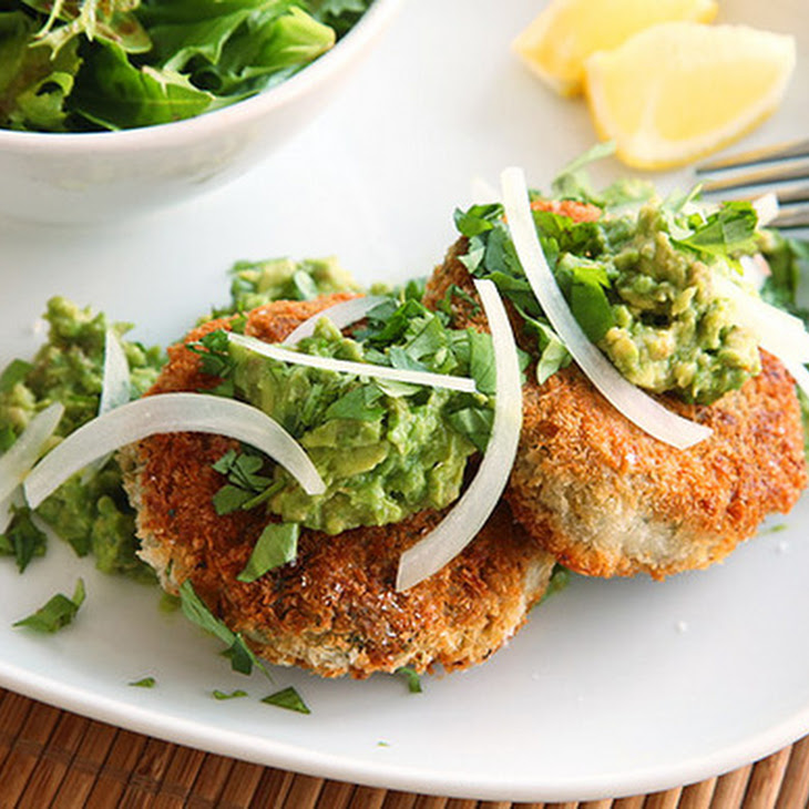Vegan Chickpea Cakes with Mashed Avocado Recipe