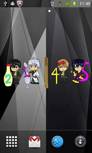Gintama Clock Widget