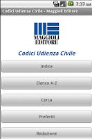 Screenshot of Codici Udienza Civile