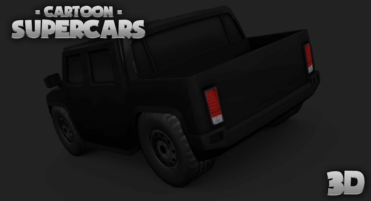 Toon Cars HUMMER 3D lwp- screenshot