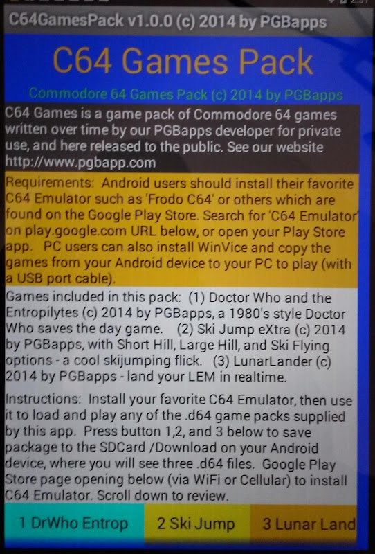 Download C64 Games Pack APK latest version game for android devices