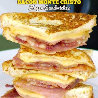 Bacon Monte Cristo Finger Sandwiches.