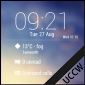 Lock Clock Widget - UCCW Skin