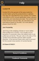 Screenshot of Southwire® Conduit Fill Calc