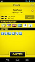 Screenshot of cab4me taxi finder