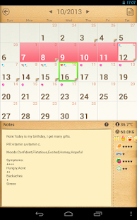 Period Calendar / Tracker - screenshot thumbnail