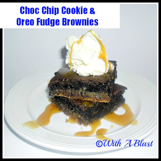Chocolate Chip Cookie & Oreo Fudge Brownies.
