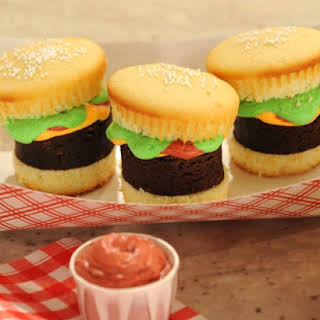 Hamburger Cupcakes with Pound Cake Fries.