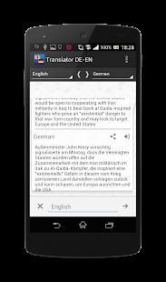 Free German-English translator APK for Android