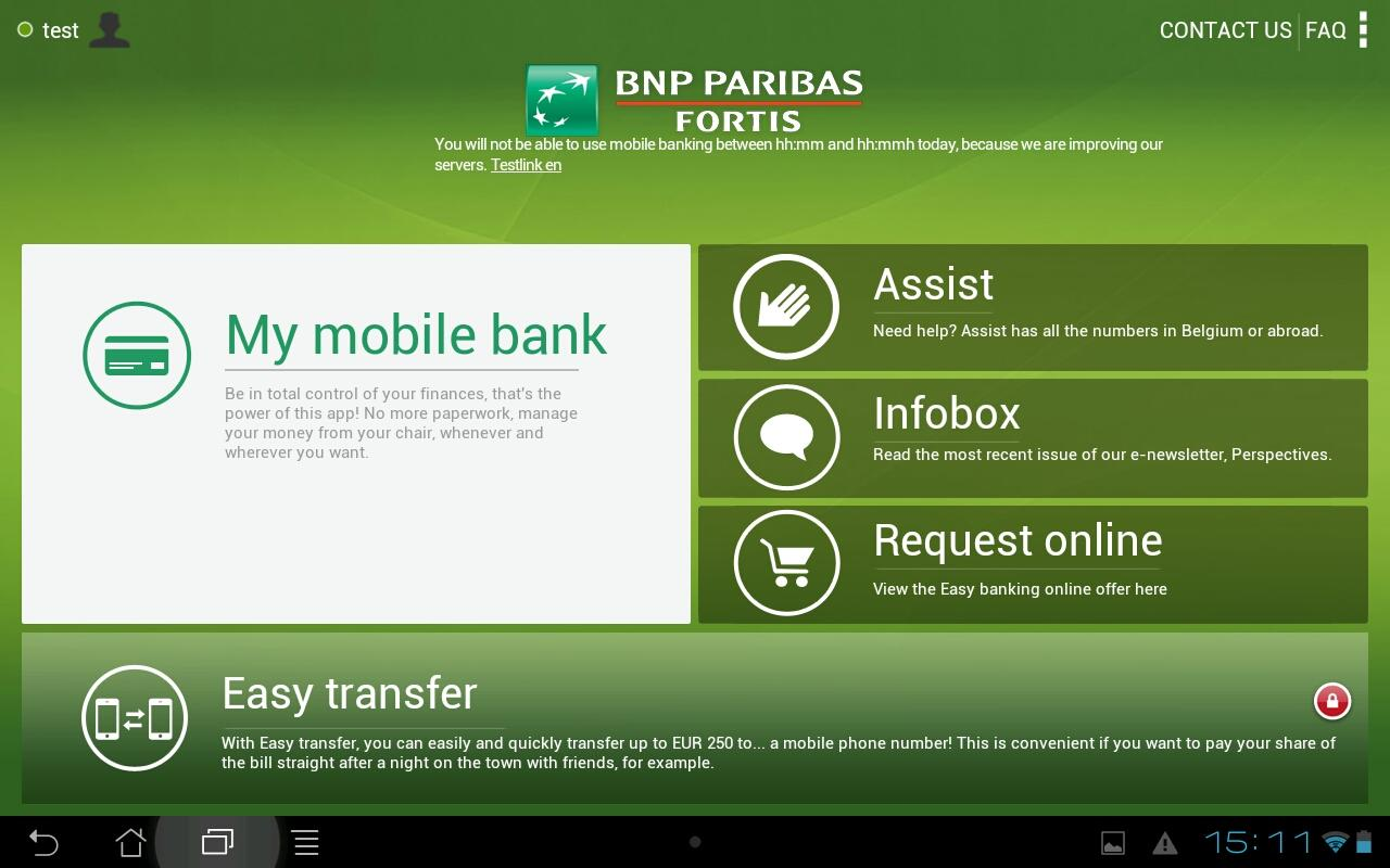Easy banking - screenshot