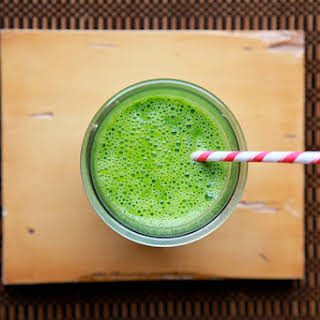 Kale Spinach and Pear Smoothie.
