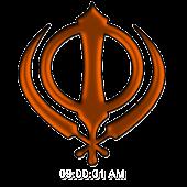 Digi Khanda Clock (Orange)