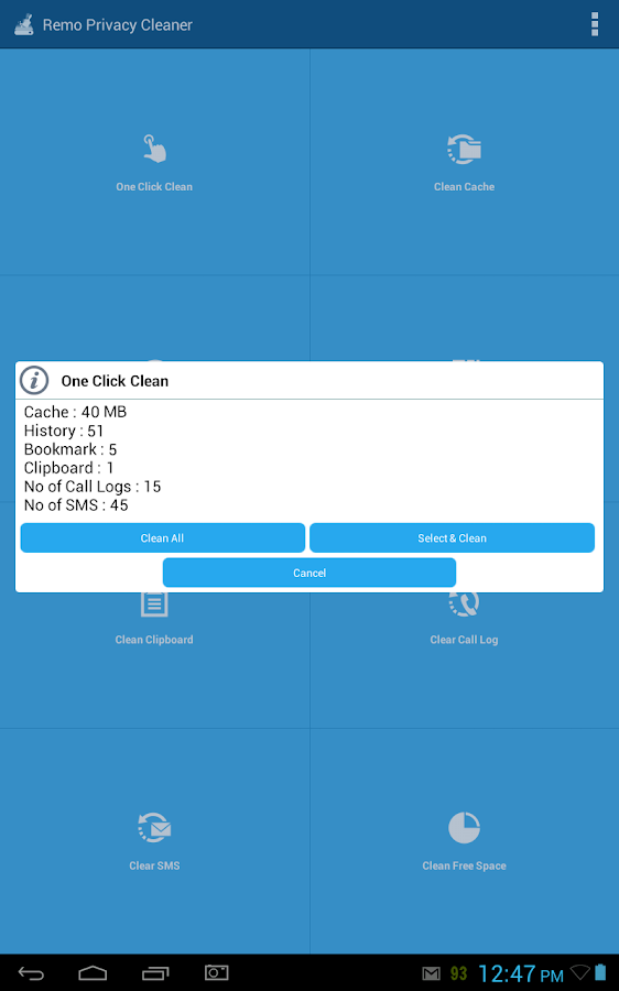 Remo Privacy Cleaner FREE - screenshot