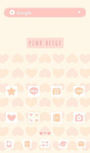 Pink beige 도돌런처 테마