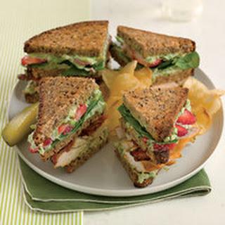 Triple-Decker Strawberry-Chicken Club Sandwiches