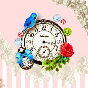 Girl's collection clockWidget