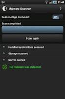 Screenshot of STOPzilla Mobile