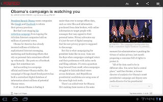Screenshot of POLITICO For Tablet