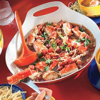 Cioppino-Style Roasted Crab