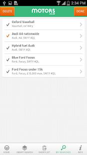 Motors.co.uk car search - screenshot thumbnail
