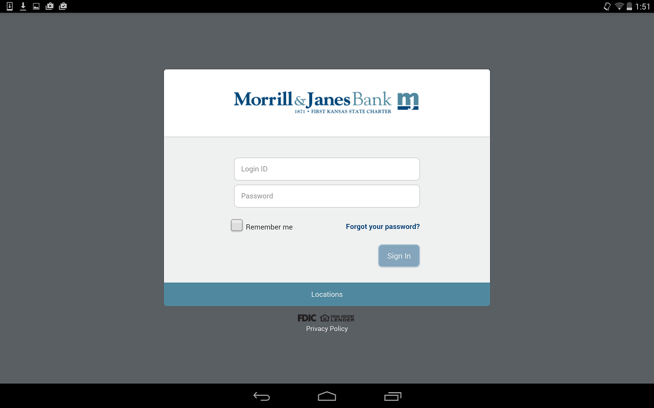 Morrill & Janes Bank and Trust - screenshot