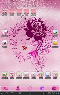 Pink Roses Theme for TABLETs - screenshot thumbnail