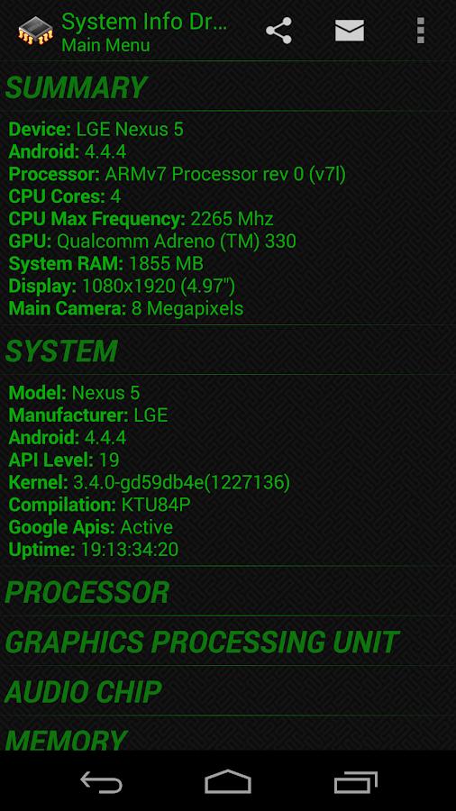 System Info Droid - screenshot