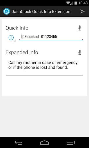 Quick Info DashClock Extension