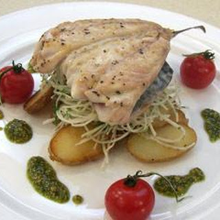 Mackerel Fillets With A Celeriac And Anchovy Salad.