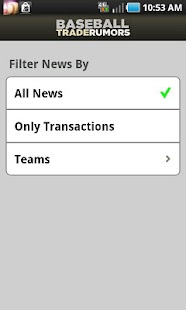 Baseball Trade Rumors - screenshot thumbnail
