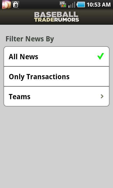 Baseball Trade Rumors - screenshot