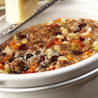 Hearty Mixed Bean Stew with Sausage