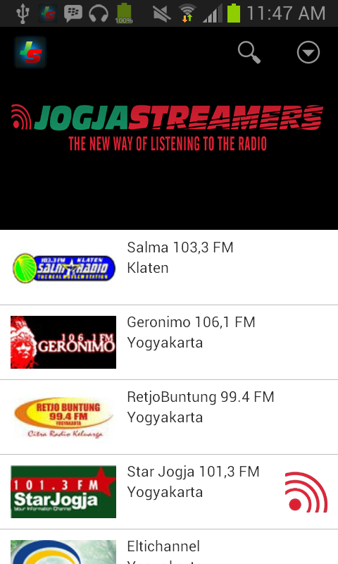 Jogjastreamers- screenshot
