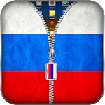 Russia Flag Zipper Lock 10.1 Apk