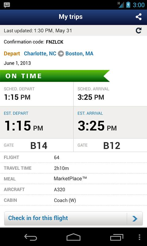 US Airways - screenshot