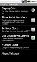 Screenshot of Predator Clock Widget