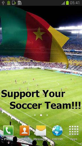 3D喀麥隆國旗歌