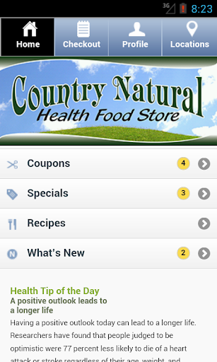 【免費健康App】Country Natural Health Food-APP點子