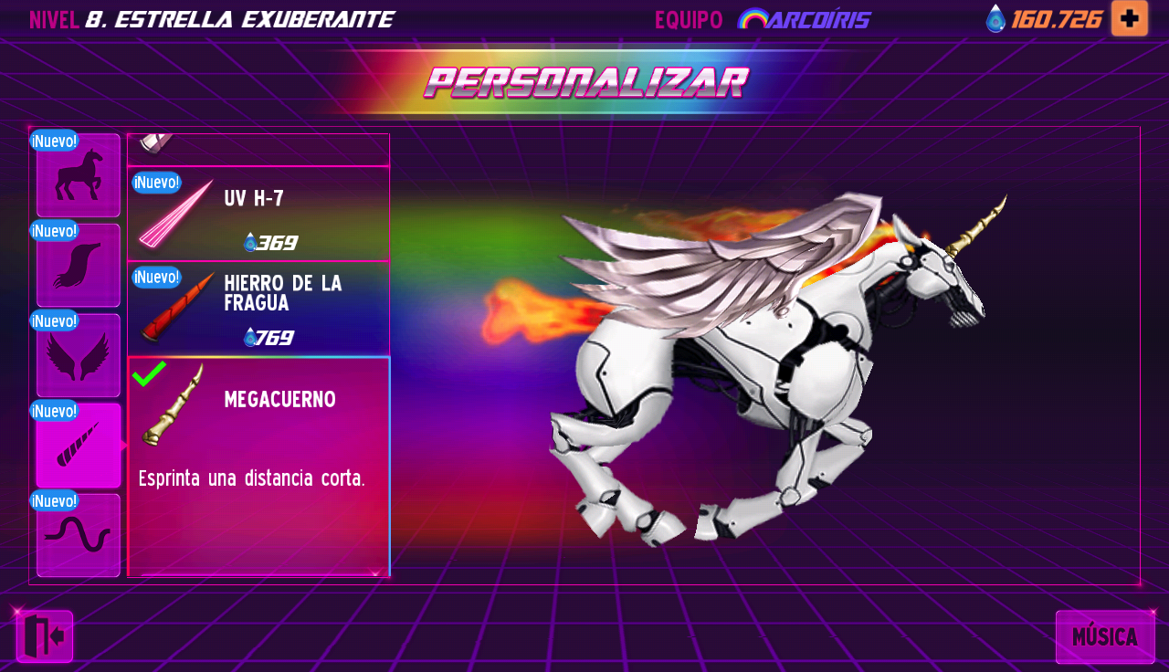 Robot Unicorn Attack 2: captura de pantalla
