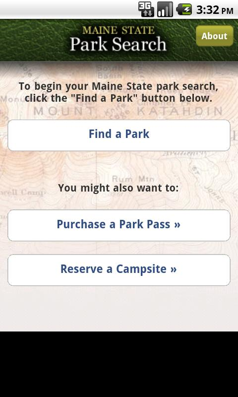 ParkSearch- screenshot