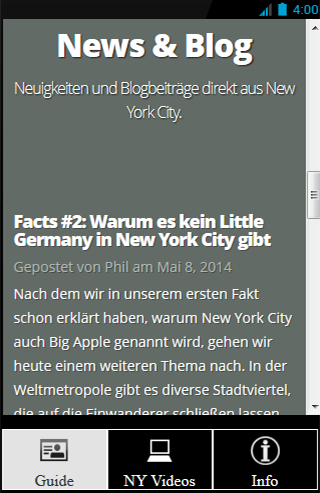 NYC Guide von ilovenewyork.at- screenshot