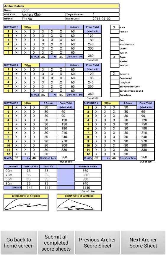 9 Score Sheet Templates Samples Examples