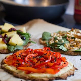 Vegan, Gluten Free Cauliflower Pizza Crust.