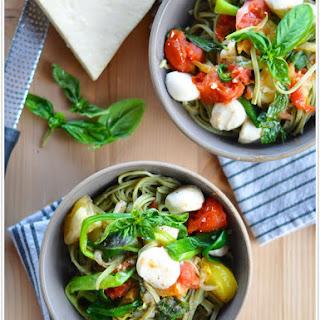 Heirloom Tomato Pasta with Scallions & Mozzarella