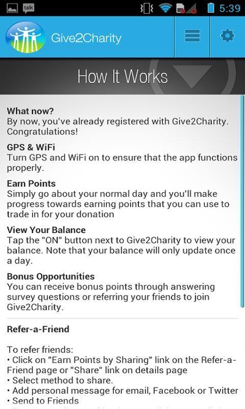 Give 2 Charity - Free Donation - screenshot