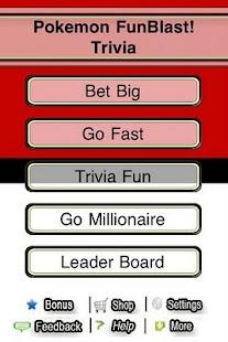 Pokemon FunBlast Trivia Quiz