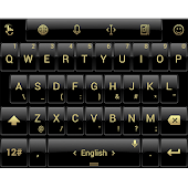 Theme TouchPal Dusk Black Gold