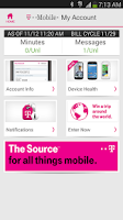Screenshot of T-Mobile My Account